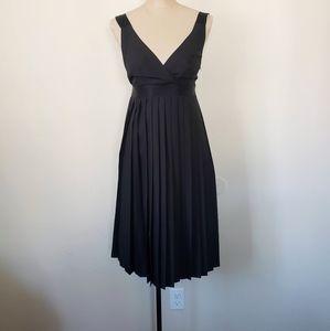 NWOT The Limited black pleated sleeveless dress 4